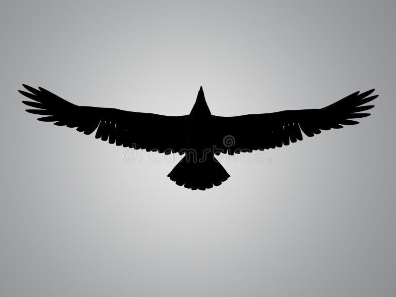 Punto della siluetta dell'aquila illustrazione vettoriale