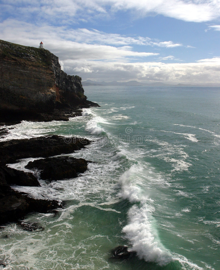 Punto di Dunedin, Nuova Zelanda fotografia stock