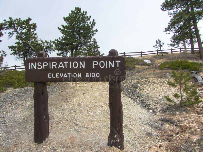 Punto di ispirazione in Bryce Canyon National Park U.S.A. fotografie stock libere da diritti