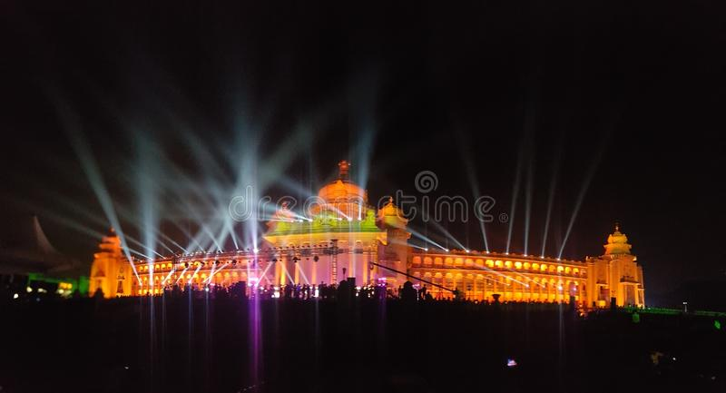 Punto di riferimento di Bangalore, Vidhana Soudha fotografie stock