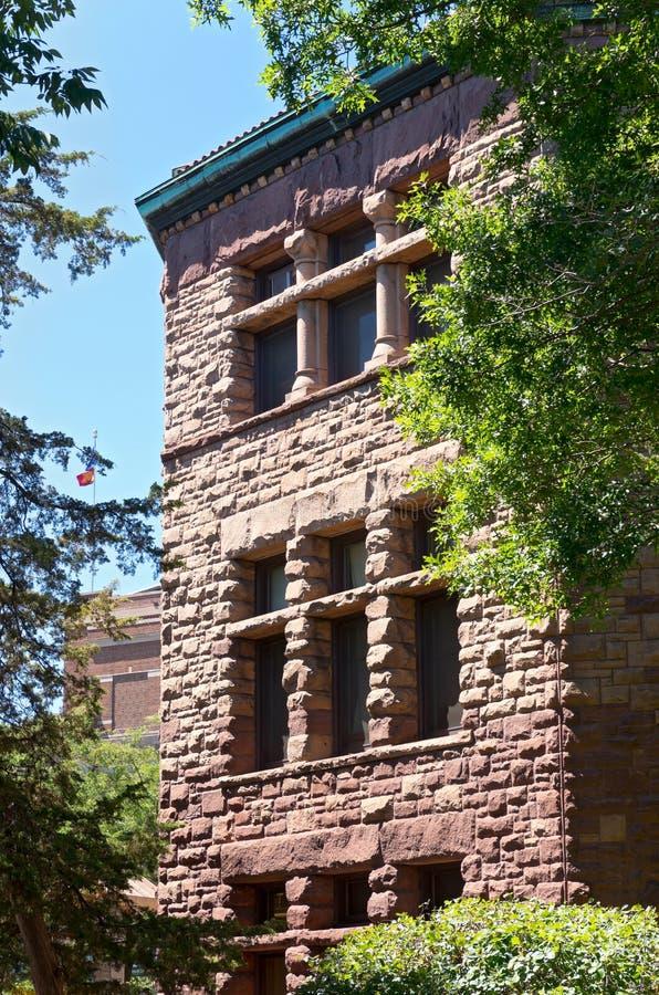 Punto di riferimento Corridoio nel distretto storico della città universitaria fotografia stock libera da diritti