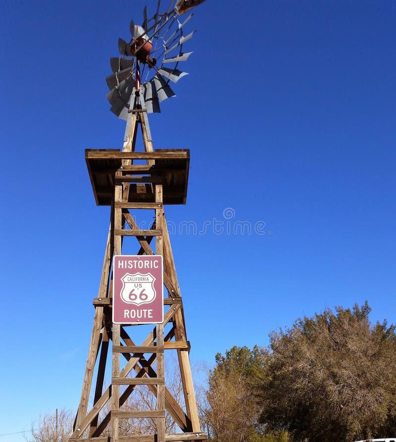 Punto di riferimento d'annata di Route 66 fotografie stock libere da diritti