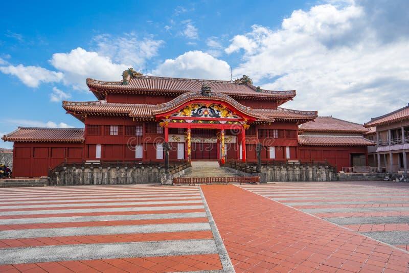 Punto di riferimento del castello di Shuri di Naha, Okinawa, Giappone fotografia stock