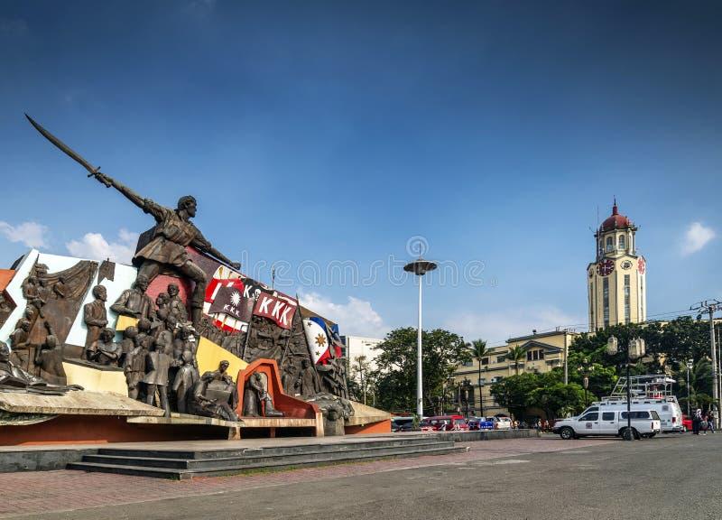 Punto di riferimento del monumento del santuario di bonifacio di Andres nella città centrale di Manila immagine stock