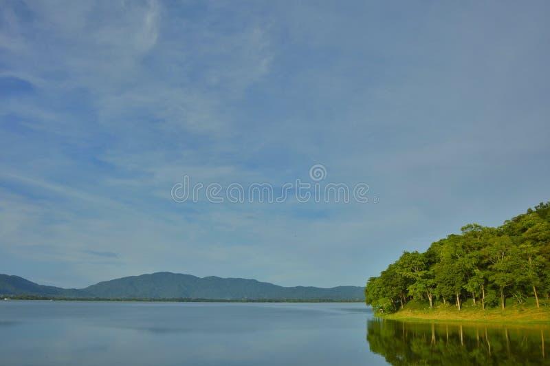 Punto di riferimento del paesaggio il bacino idrico in Tailandia fotografia stock libera da diritti