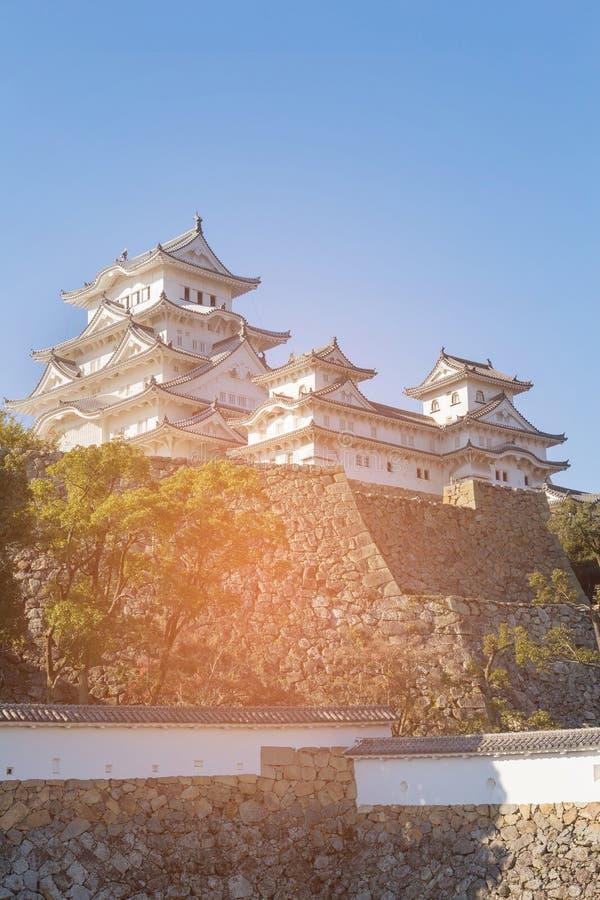 Punto di riferimento del patrimonio mondiale del castello di Himeji fotografie stock