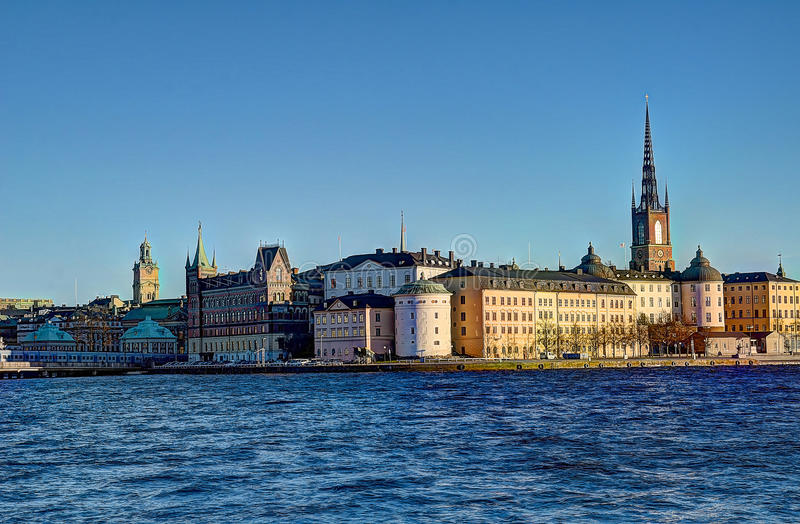 Punto di riferimento della Svezia Stoccolma fotografia stock libera da diritti