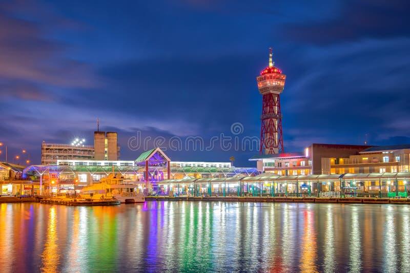 Punto di riferimento della torre del porto di Hakata di Fukuoka, Giappone immagine stock