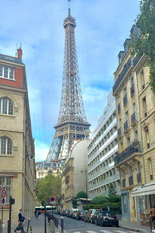Punto di riferimento della torre Eiffel fotografia stock libera da diritti