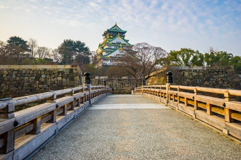 Punto di riferimento di Osaka Castle di Osaka nel Giappone fotografia stock libera da diritti