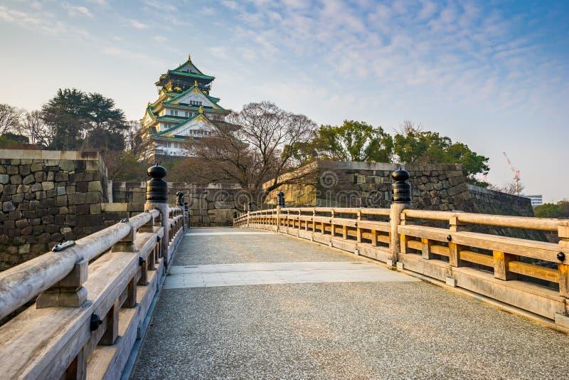 Punto di riferimento di Osaka Castle di Osaka nel Giappone immagini stock libere da diritti