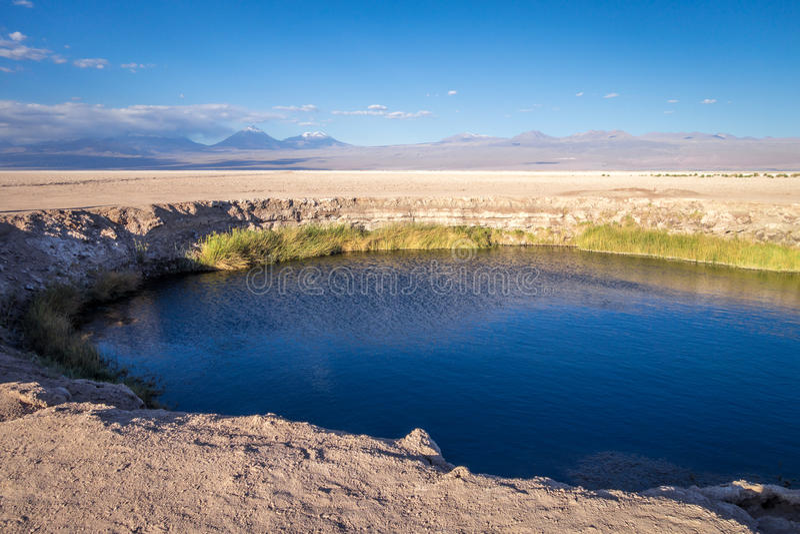 Punto di riferimento di Salar del di Ojos in San Pedro de Atacama, Cile fotografie stock libere da diritti