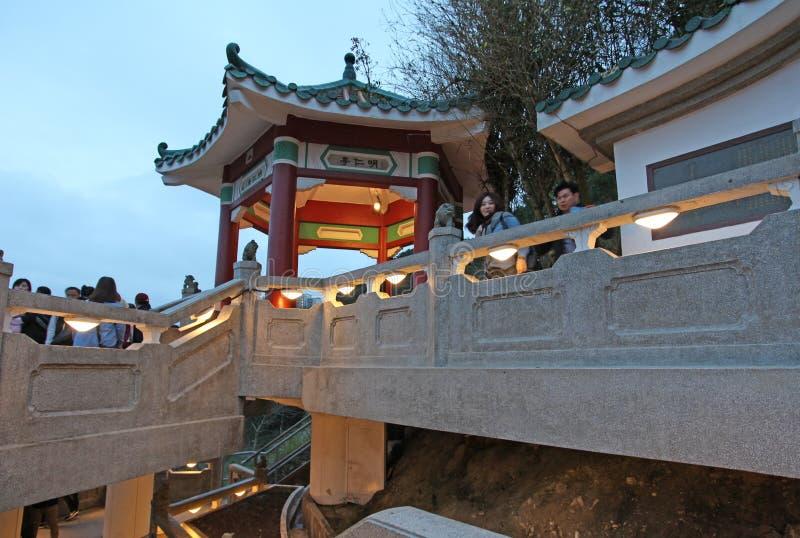 Punto di riferimento di Victoria Peak in Hong Kong (il picco) fotografia stock