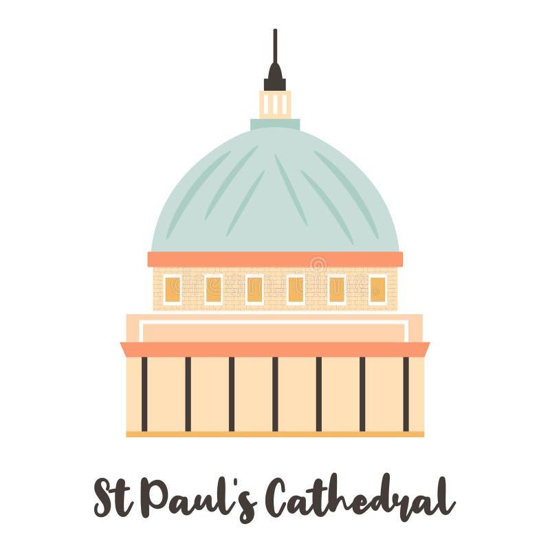 Punto di riferimento famoso del Cathedal Londra di St Paul royalty illustrazione gratis
