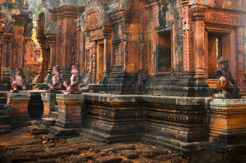 Punto di riferimento famoso della Cambogia Più grande monumento religioso del mondo, Prasat Angkor Nokor Wat Temple Complex, Siem fotografia stock libera da diritti