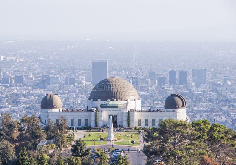 Punto di riferimento Griffith Observatory Planetarium, Los Angeles, U.S.A. fotografia stock