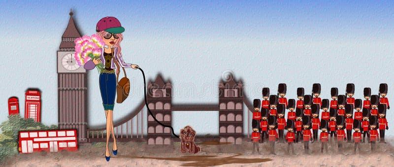 Punto di riferimento di Londra royalty illustrazione gratis