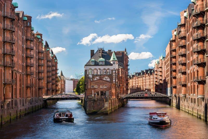 Punto di riferimento Wasserschloss di Amburgo immagine stock
