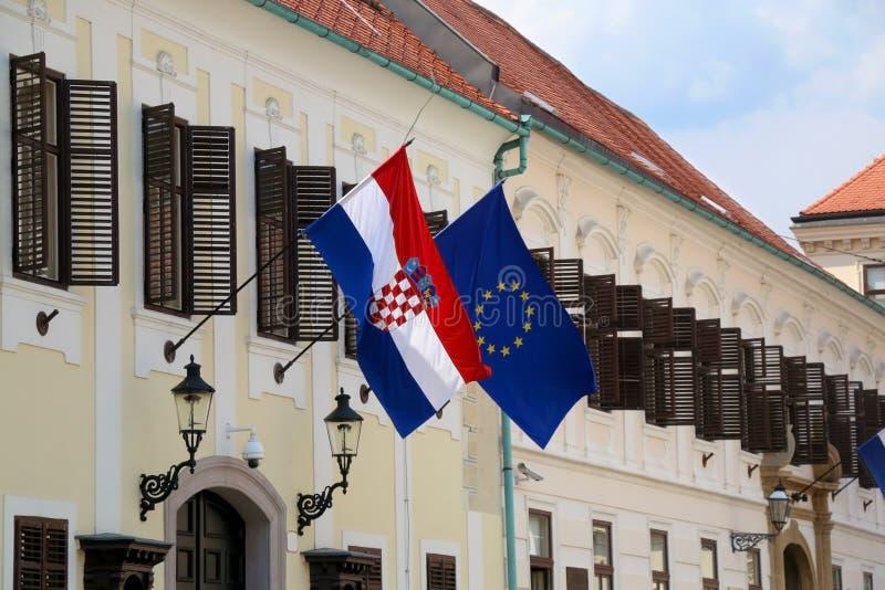 Punto di riferimento a Zagabria, Croazia immagini stock