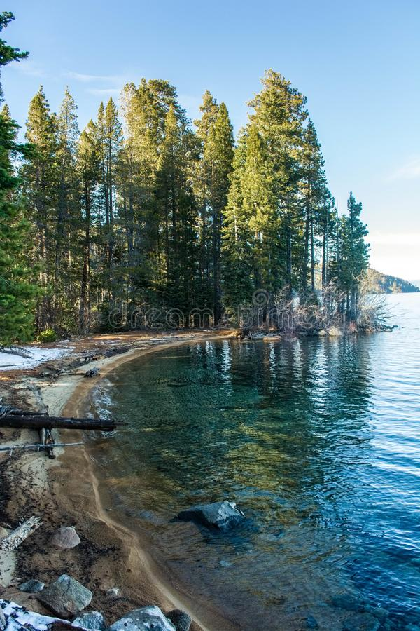 Punto di Rubicon al lago Tahoe immagine stock libera da diritti