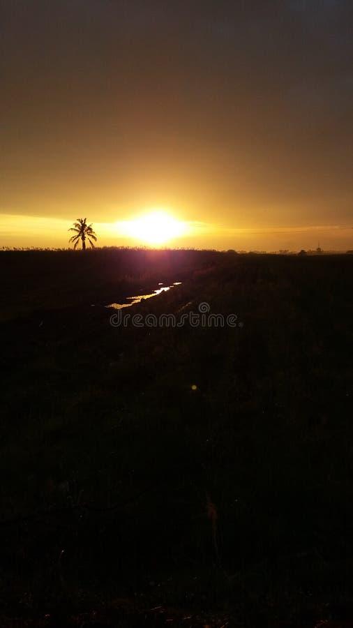 Punto di tramonto immagine stock