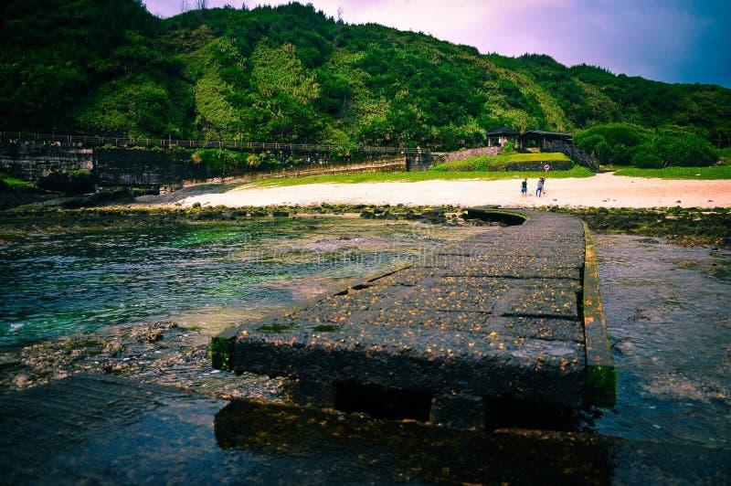 Punto di turismo in isola verde, Taiwan immagine stock libera da diritti