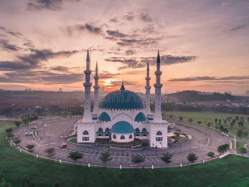 Punto di vista aereo della foto di Masjid Sultan Iskandar fotografia stock