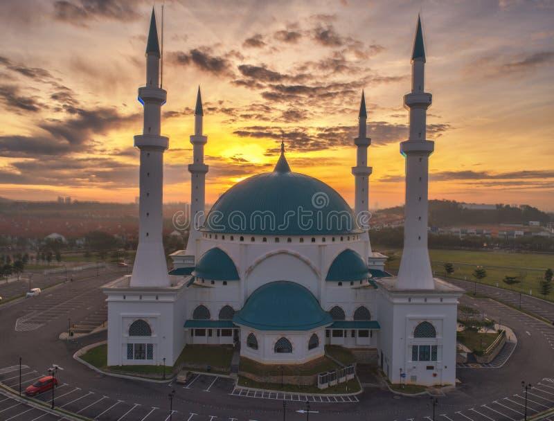 Punto di vista aereo della foto di Masjid Sultan Iskandar immagini stock