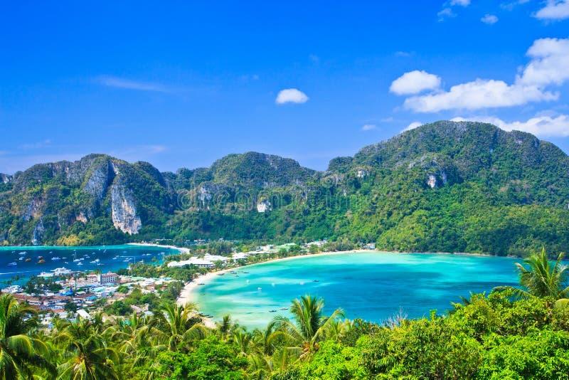 Punto di vista all'isola del Phi-phi fotografia stock
