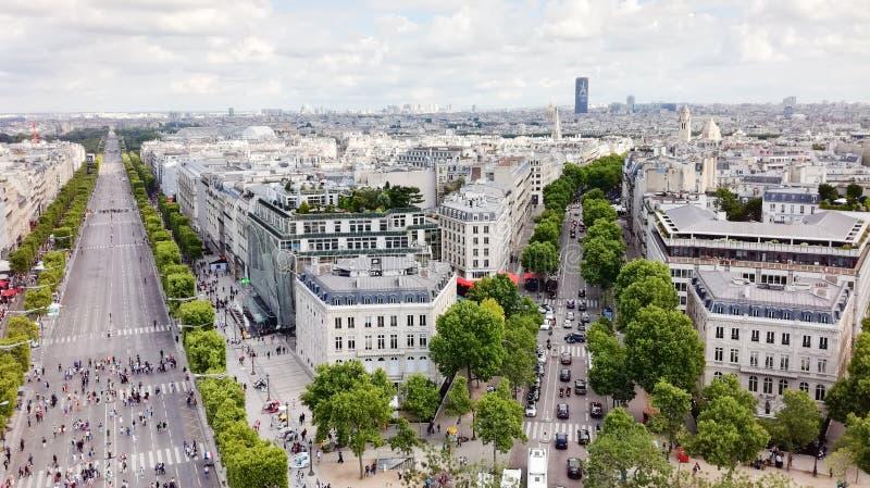Punto di vista Arc de Triomphe de l ‰ toile, Parigi del ` Ã fotografia stock