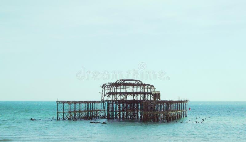 Punto di vista 3 di Brighton West Pier fotografie stock libere da diritti