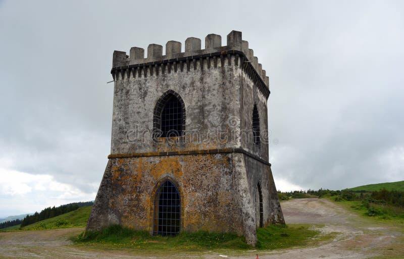Punto di vista di Castelo Branco, isola di Miguel del sao, Azzorre fotografia stock