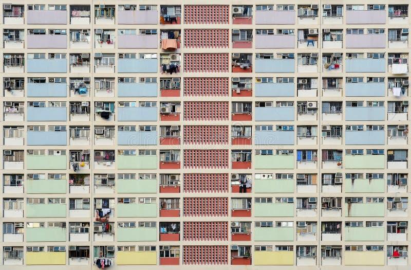 Punto di vista di Choi Hung Estate in Hong Kong immagine stock libera da diritti