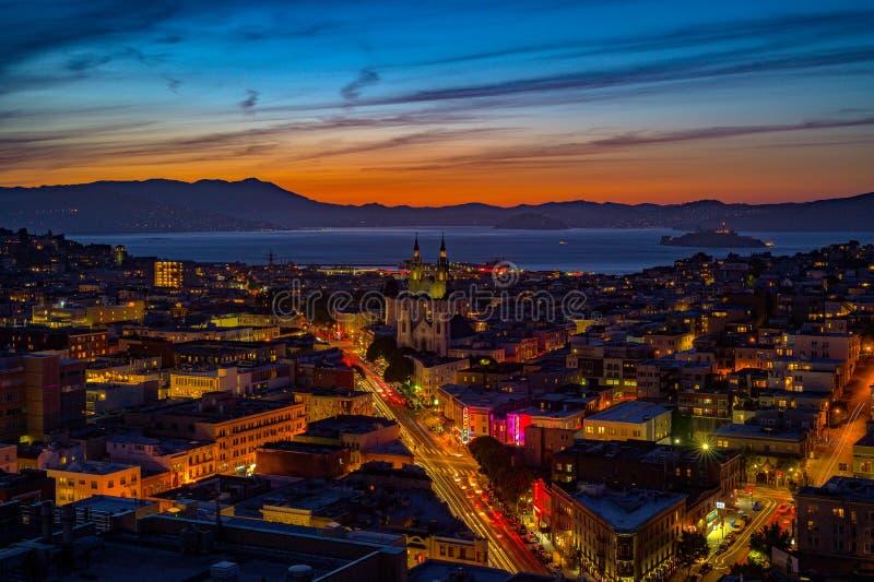 Punto di vista del 27° piano di San Francisco Bay immagine stock
