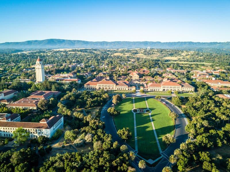 Punto di vista del fuco di Stanford University fotografia stock