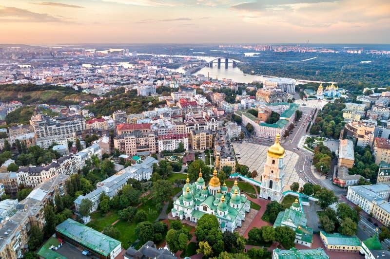 Punto di vista del san Sophia Cathedral a Kiev, Ucraina fotografia stock libera da diritti