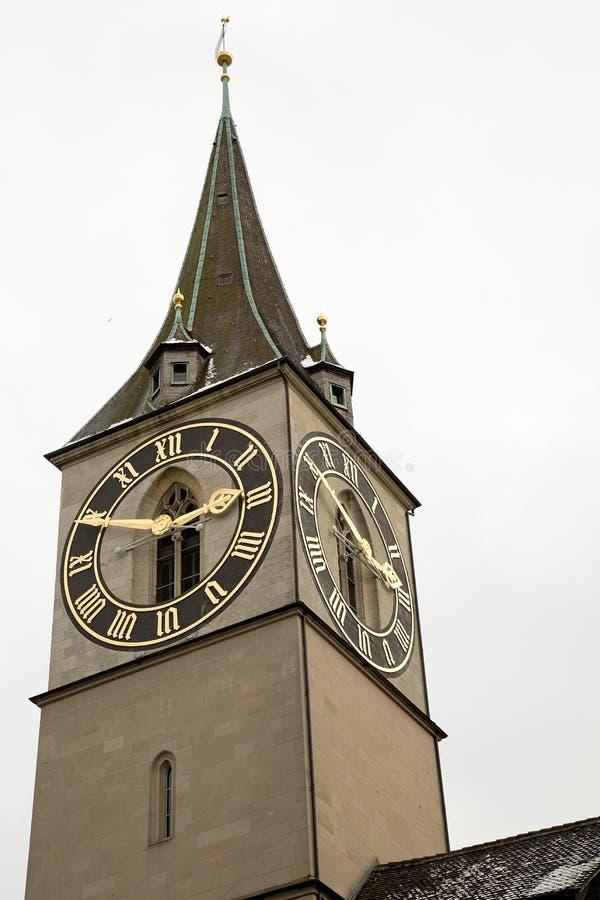 Punto di vista del turista di Zurigo fotografia stock