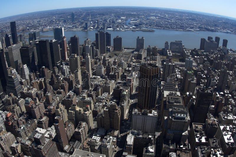 Punto di vista dell'uccello di Manhattan orientale fotografia stock libera da diritti