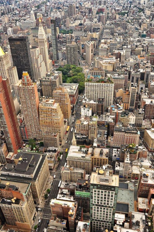 Punto di vista dell'uccello di New York fotografia stock