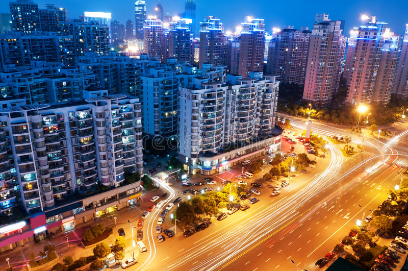 Punto di vista dell'uccello a Wuhan Cina fotografia stock libera da diritti
