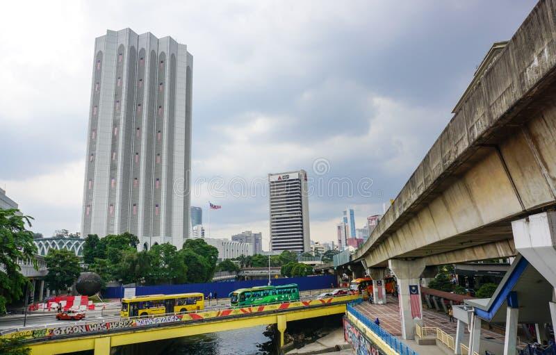 Punto di vista della città di Kuala Lumpur, Malesia fotografia stock libera da diritti