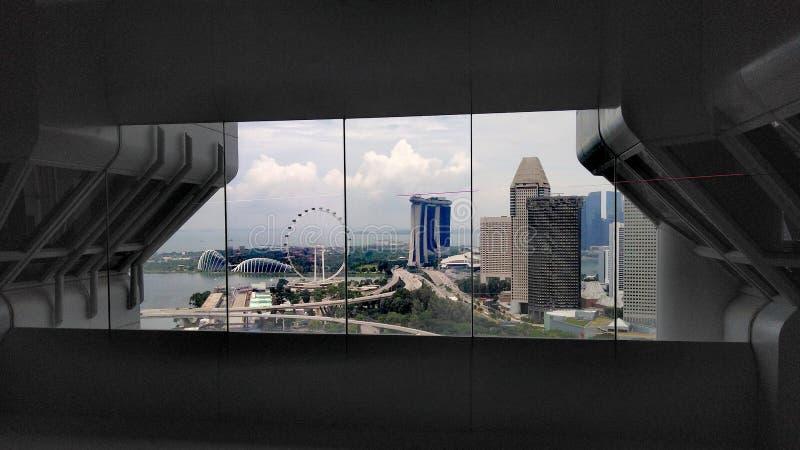Punto di vista della finestra di Marina Bay a Singapore fotografie stock