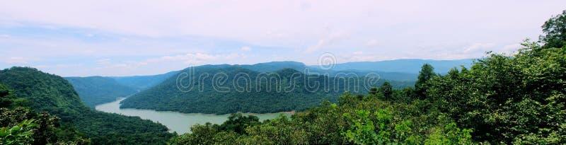Punto di vista della valle di Sharavathi fotografie stock libere da diritti