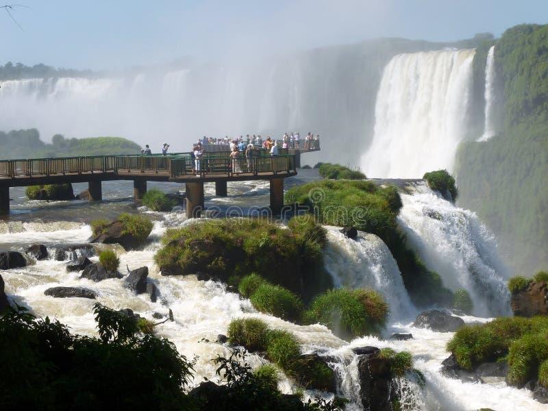 Punto di vista delle cascate di Iguazu immagini stock libere da diritti