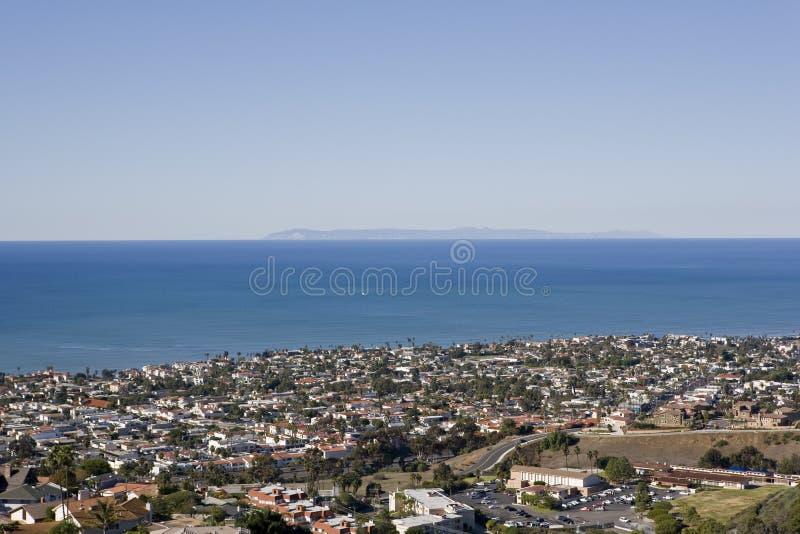 Punto di vista di Catalina catturato da San Clemente fotografia stock libera da diritti