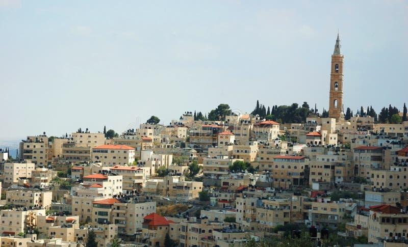 Punto di vista di Città Santa Gerusalemme, Israele immagine stock libera da diritti