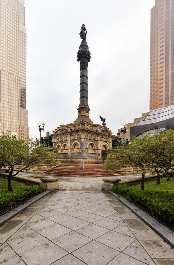 Punto di vista di Cleveland Public Square, Ohio, U.S.A. immagine stock libera da diritti