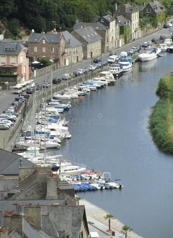 Punto di vista di Dinan Port, Francia fotografia stock