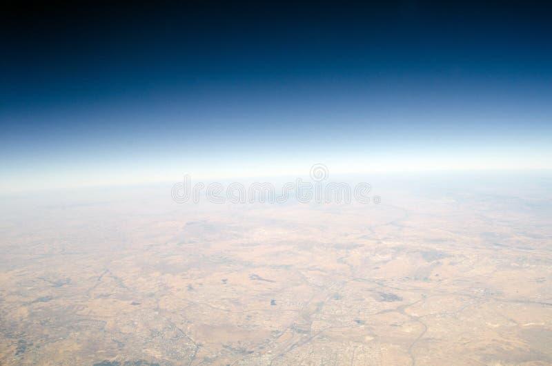 Punto di vista di elevata altitudine della terra fotografia stock libera da diritti