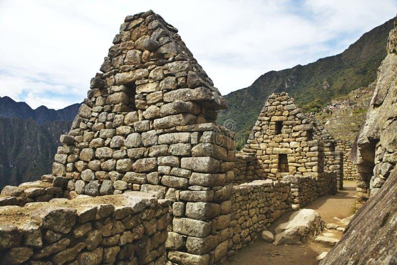 Punto di vista di Inca City antico di Machu Picchu, Perù fotografie stock libere da diritti